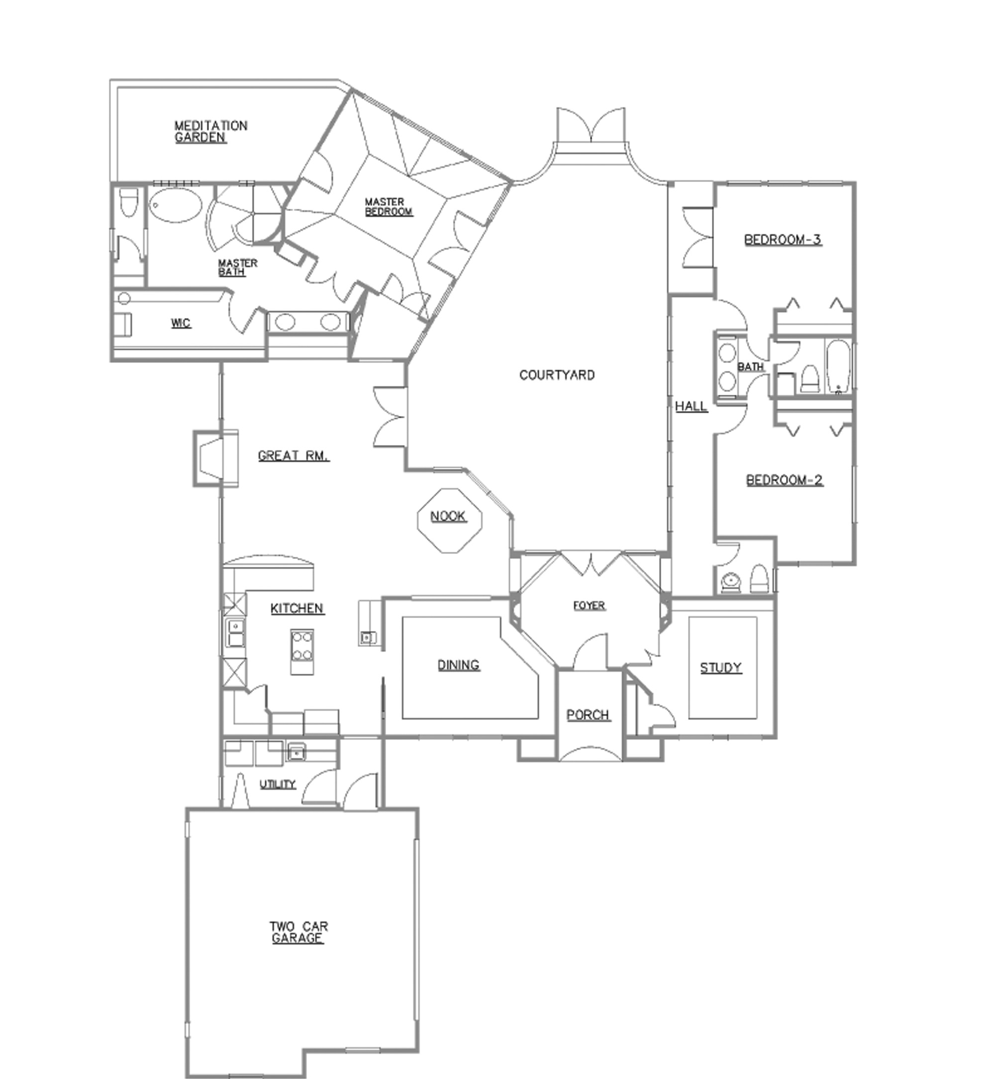 Custom home plan design ideas for Custom house plans