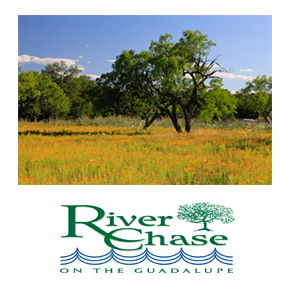 Home lots range from one to five acres and start in the 40's.  River Chase offers excellent amenities including a basketball courts and sports fields, a lighted tennis court, a fishing pond, and paved walking trails. Bask in the warmth of the Texas sunshine, cool off at the fifty-eight acre riverbank park, or take a refreshing dive into one of the community's two swimming pools.